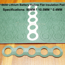 100pcs/lot 18650 Lithium Battery Positive Insulation Gasket Meson 5s Hollow Flat Head Paper Pad Accessories