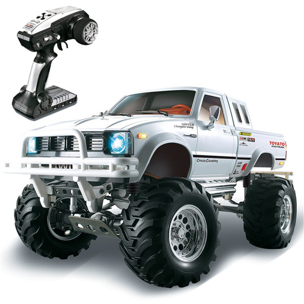 HG P407 1/10 2.4G 4WD 3CH Brushed Rally Rc Car TOYATO Metal 4X 4 Pickup Truck Rock Crawler RTR Toy Black White Gifts Boys KidsHG P407 1/10 2.4G 4WD 3CH Brushed Rally Rc Car TOYATO Metal 4X 4 Pickup Truck Rock Crawler RTR Toy Black White Gifts Boys Kids
