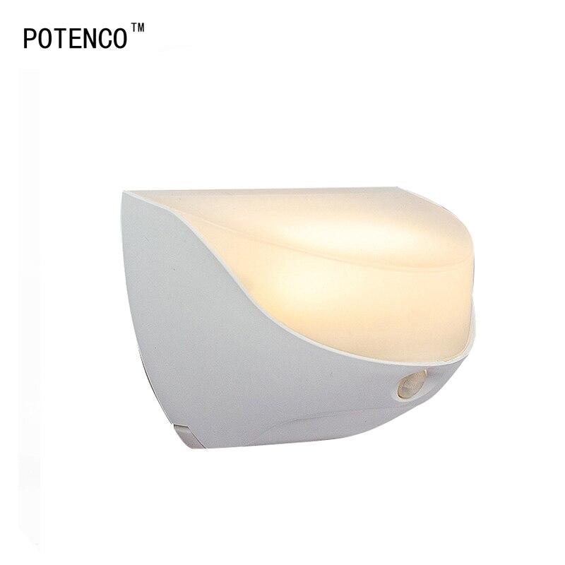 Potenco dc3.7v светодиодный светильник настенный движения Сенсор лестницы Освещение Ночные светильники Кухня прихожей wandlamp Ванная комната свет …