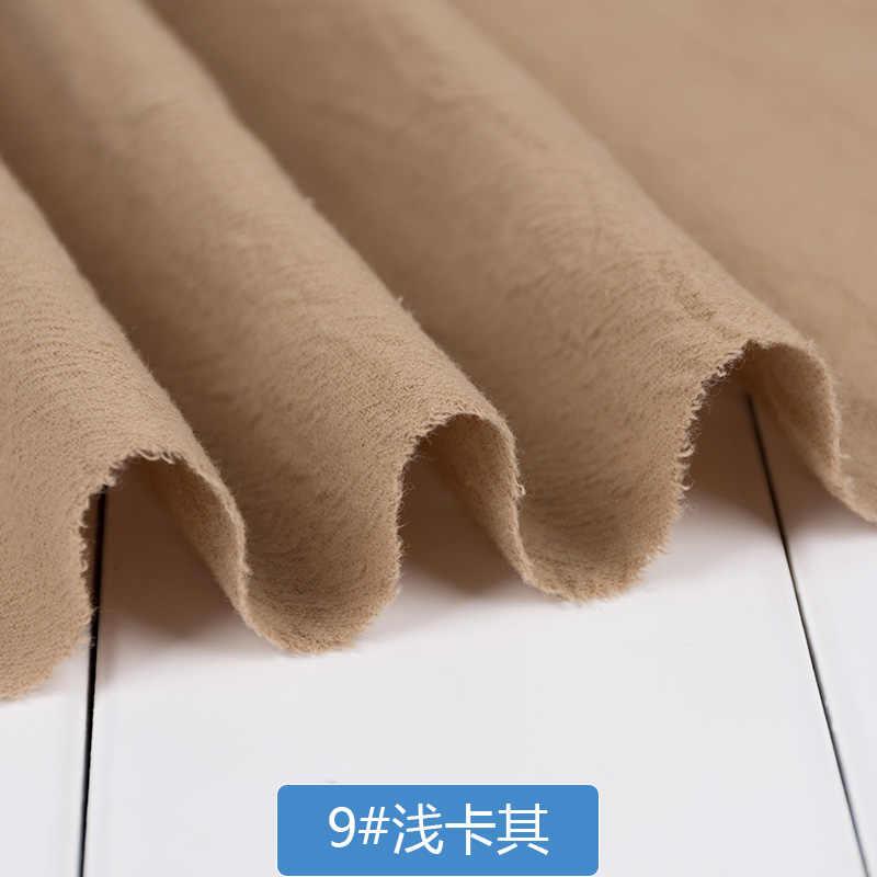 130 センチメートル X 50 センチメートル無地洗浄綿リネン布ソフト生地 Diy ドレスローブは春の秋の服売却 210 グラム/メートル