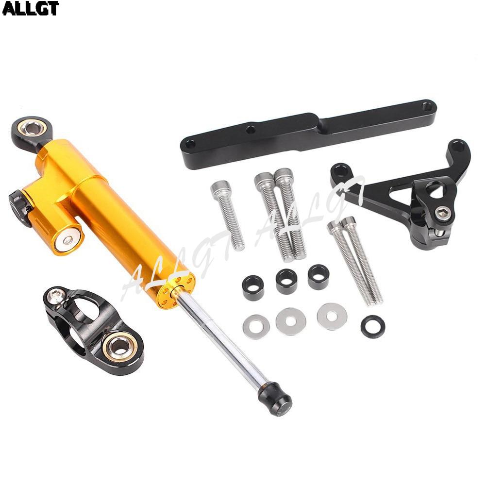 ALLGT CNC Steering Damper Complete Set Kit For Honda CB1000R 2008 2009 2010 2011 2012 2013 2014 2015 2016 W/Bracket Mount