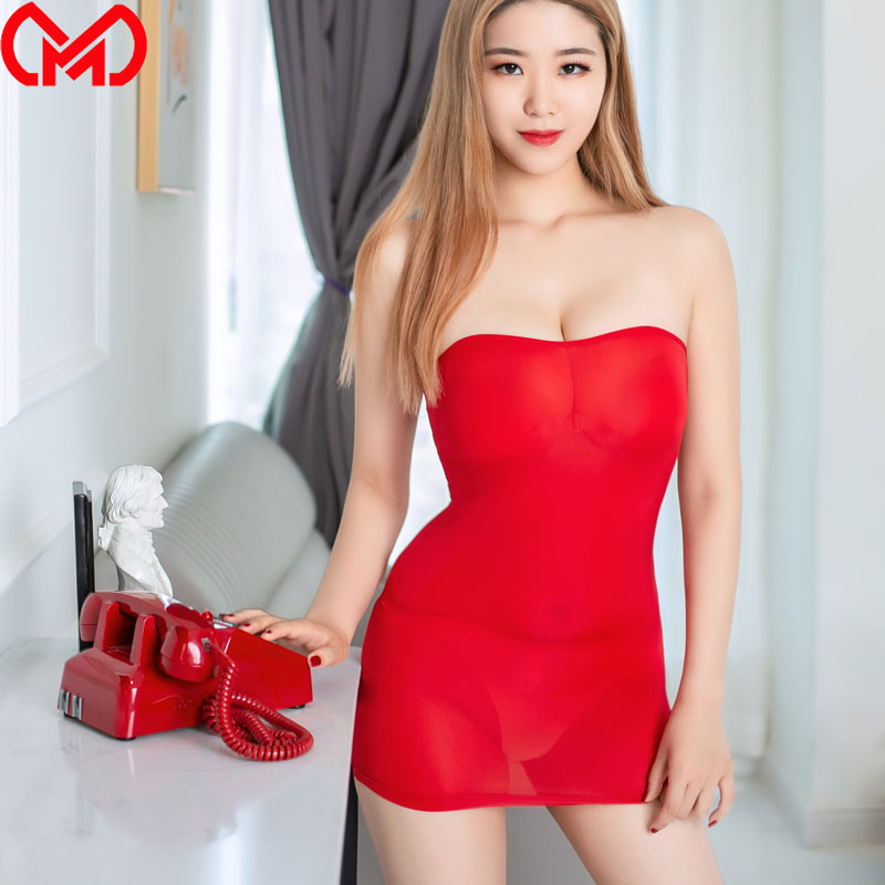 <font><b>Sexy</b></font> Tight Pencil Cute <font><b>Dress</b></font> Ice Silk Smooth See Through Micro <font><b>Mini</b></font> <font><b>Dress</b></font> Bodycon Bandage <font><b>Dress</b></font> <font><b>Club</b></font> Fantasy Erotic <font><b>Wear</b></font> F8 image