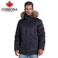 CORBONA Для мужчин куртка пальто мода Костюмы зимние теплые толстые пиджаки Для мужчин одежда тонкий пальто Для мужчин s парка куртка