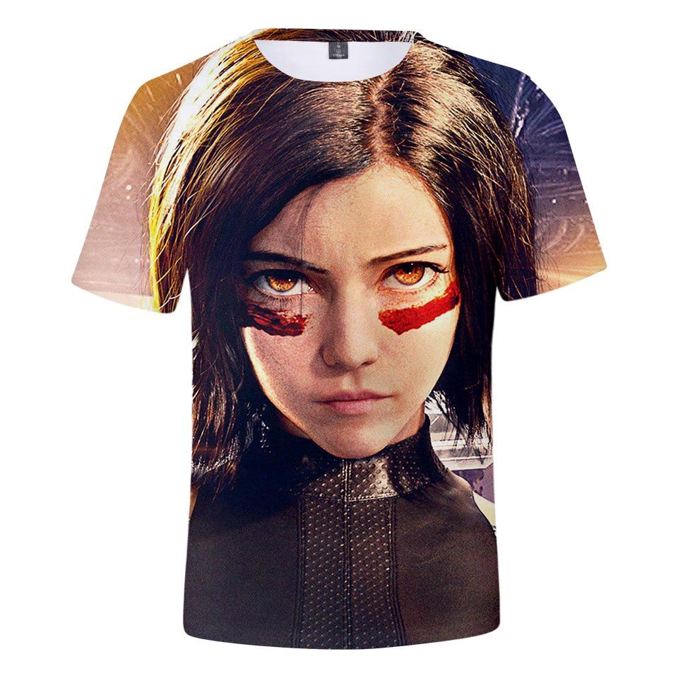 2019  New Hot Movie Alita: Battle Angel 3D Print Tshirt Men/Women Hip Hop Streetwear Tee T shirt 90s Boy Hipster Tops Clothes