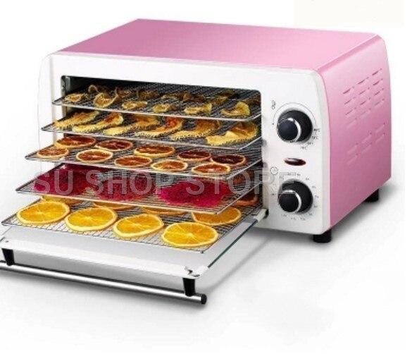 5 лотков домашняя сушилка для продуктов шкаф сушилка для фруктов сушки/бытовой Нержавеющая Сталь Сухой фрукты машина