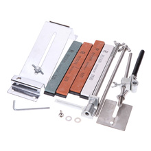 8 Types of Upgraded Professional Full Metal Stainless Steel Sharpening Stones Fixed-angle Knife Sharpener Kit for Knife kme knife sharpener professional sharpening knife portable 360 degree rotation fixed angle apex edge knife sharpener with stones