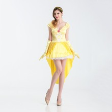 c5e2b9fde0a7df VASHEJIANG Sexy Beauty and the Beast Belle Princess Costume Adult Women  Fantasia Cosplay Dress Evening Dress