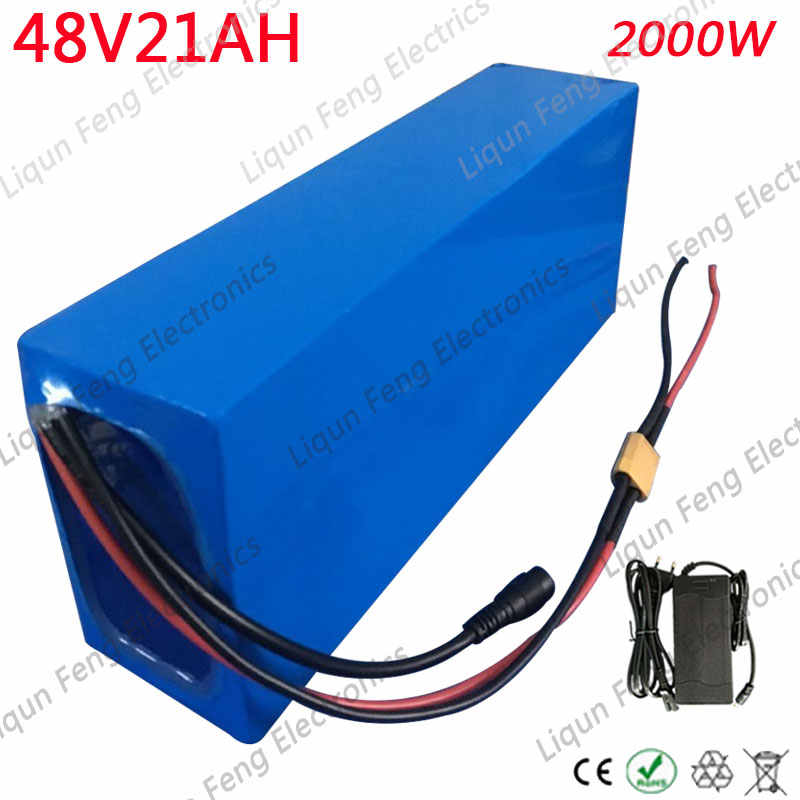 Free Shipping 48V 20AH Electric Bicycle Battery Pack 48V 20AH E-bike Lithium Battery 48V 1000W 2000W Battery with 54.6V Charger