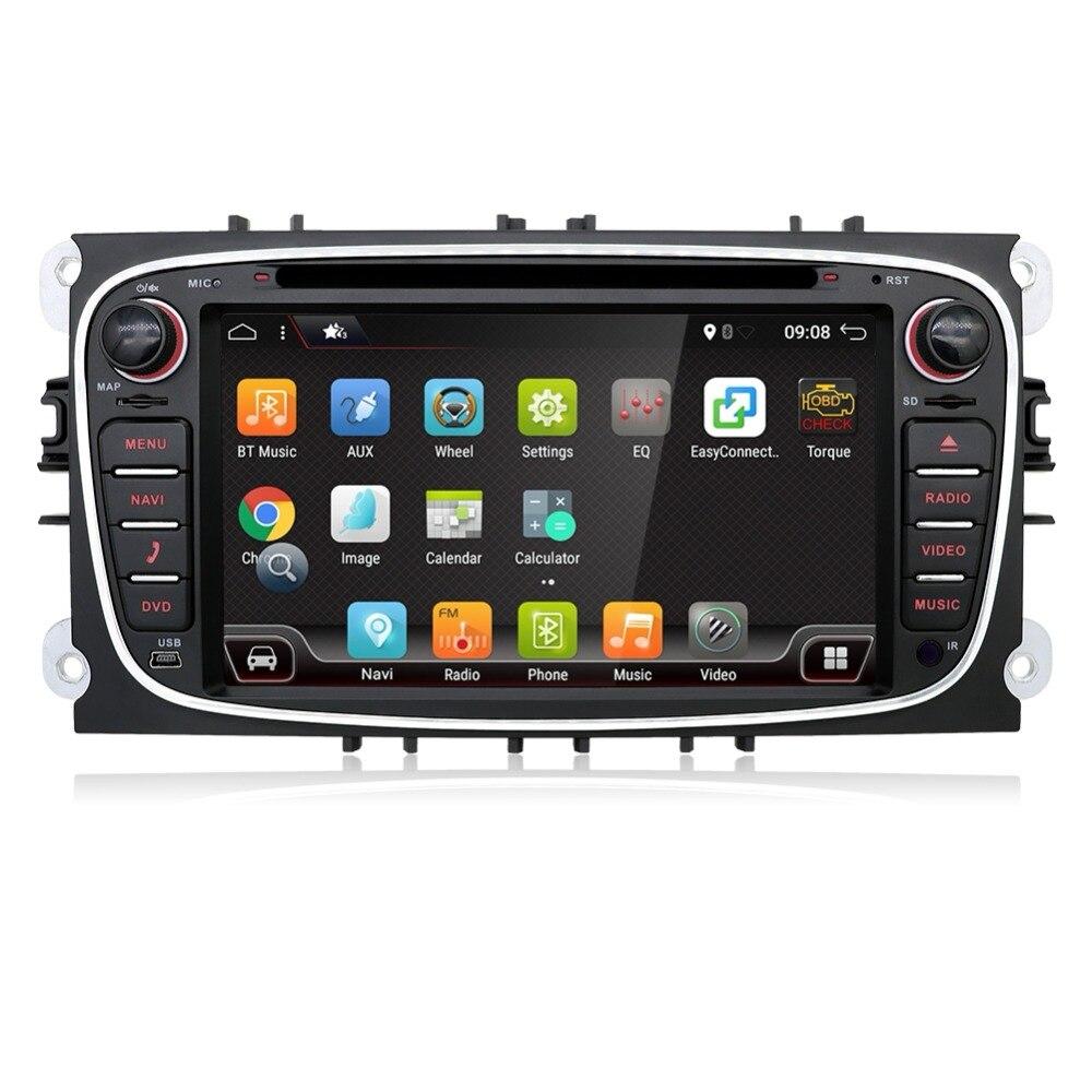 Núcleo octa Android 8.1 Carro DVD GPS 2 Din para FORD/Focus/S-MAX/Mondeo/C-MAX/ galaxy/Kuga Multimídia Wifi Player de Vídeo Rádio Do Carro OBD