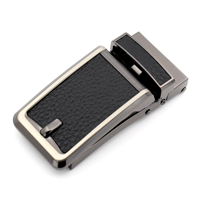 3.0cm 3.1cm Automatic Belts Buckle Metal Black Leather Belt Buckles For Men CE32317