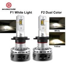 MARKCARS F1 F2 CSP Chip LED Car Headlight H7 H4 H11 9005 9006 9012 9007 Single/Dual Color Light Auto Lamp 10000LM 60W 12V 24V