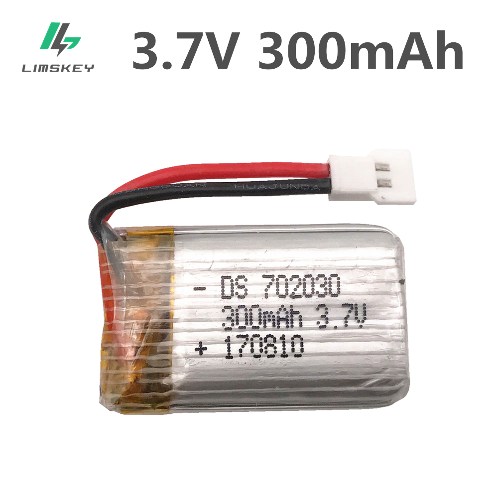 <font><b>3.7V</b></font> <font><b>300mAH</b></font> Wholesale <font><b>Lipo</b></font> <font><b>Battery</b></font> For E55 Udi U816 U830 F180 FY530 Remote control helicopter <font><b>3.7V</b></font> 300 mAH 15C XH plug image
