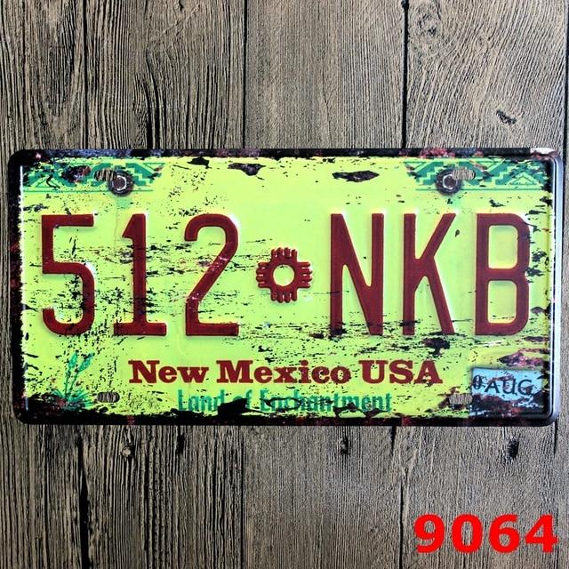 Retro Street Signs Metal New Mexico Pub Bar Wall Decorations Plate 30x15cm