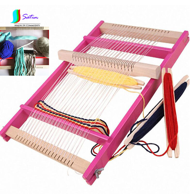 Knitting Tools For Kids : New adjustable wooden big size knitting machine for kids