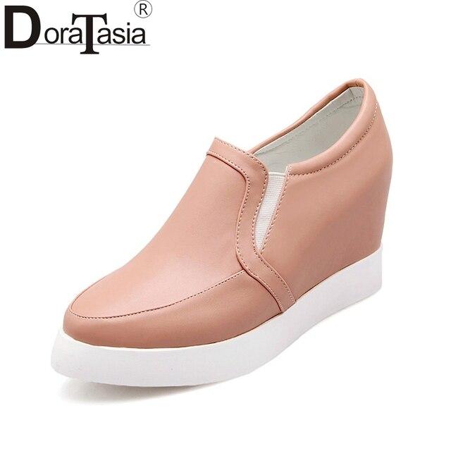 e0b9b70b3b Moda Big Size 34 DoraTasia-43 Mulheres Primavera Sapatos Flats Lazer  Confortável Mulher Sapatos Casuais