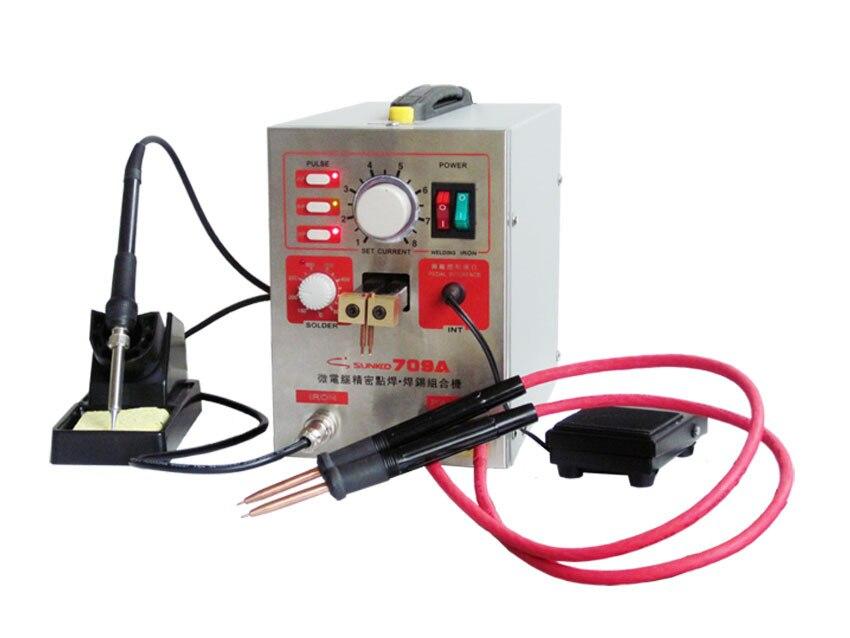 Machine de soudure de batterie de soudeuse par points de puissance élevée de S709A 1.5KW avec le stylo universel de soudure + feuille de Nickel de 3mm 1 KG