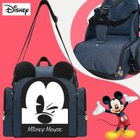 New Disney Diaper Bag Full Function Backpack Changing Bags Baby Seat Waterproof Baby Nappy Bags Cute Maternity Diaper Bags