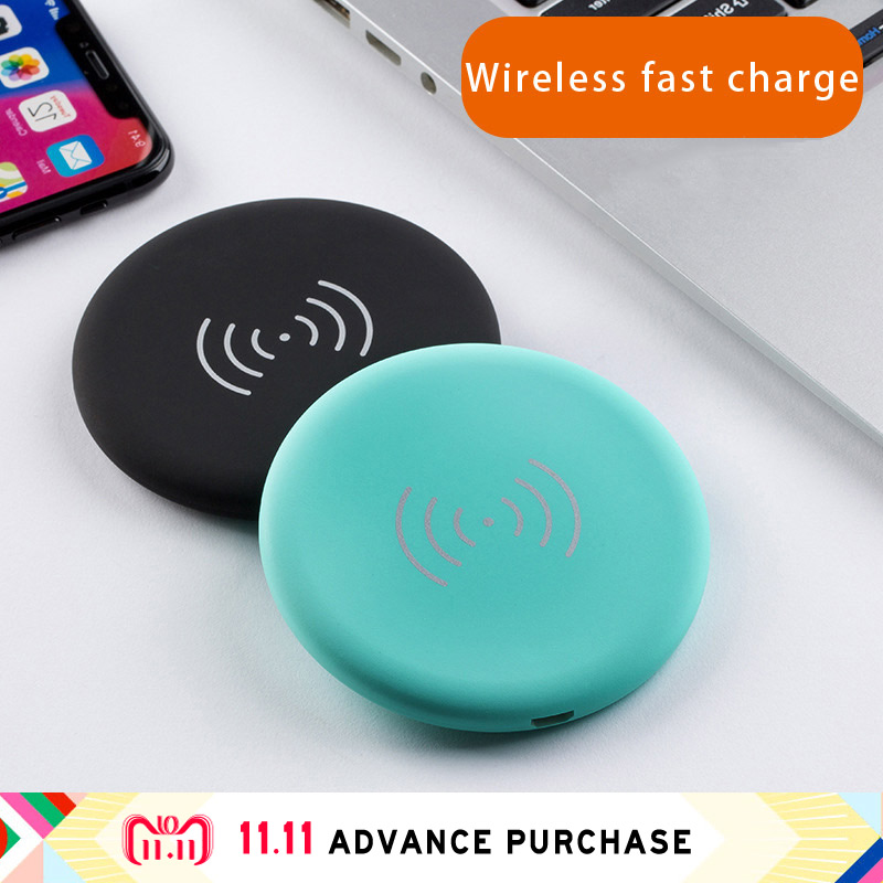 colorful mini wireless charger for phone qi samsung huawei iphone X charging quick charge fast auto universal without wire