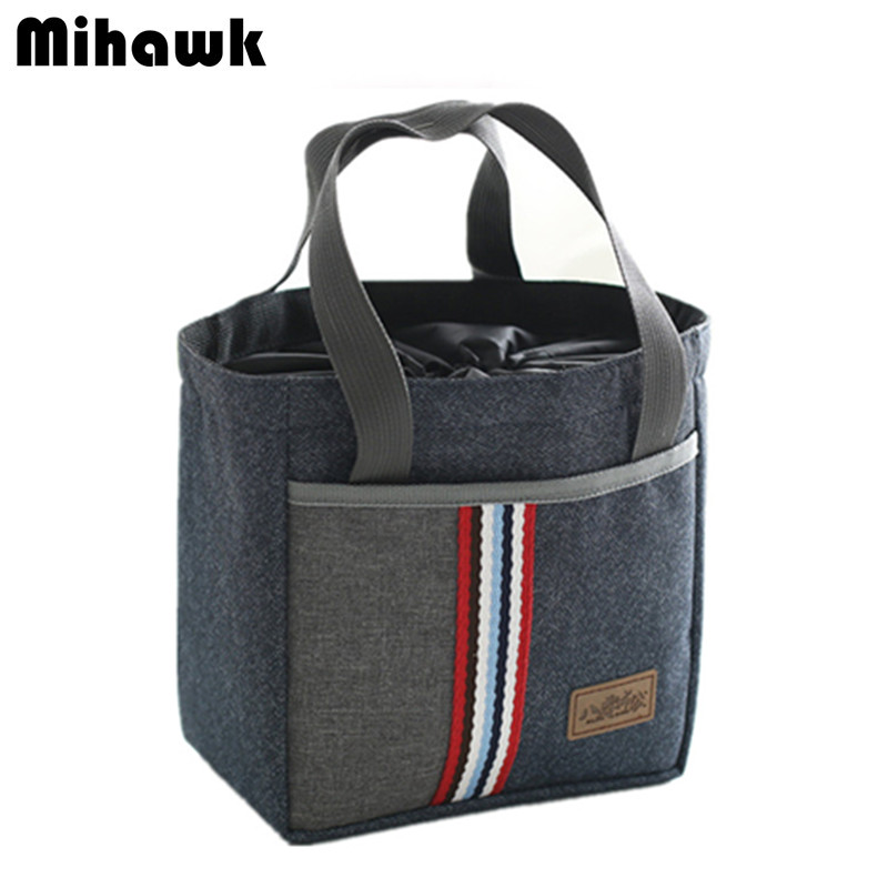 Drawstring Thermal Insulated Lunch Bag Women Kids Thermo Bag Picnic Refrigerator Cooler Fit Fresh Food Pouch Accessories Supply