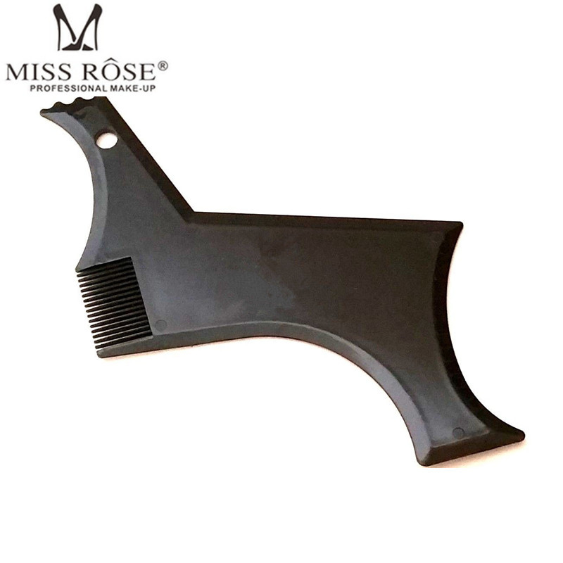 Perfect Beard Comb For Men's Face Care Transparent Black Stencil Comb Shaper For Beard Styling Beard Shaping Tool Liner Template