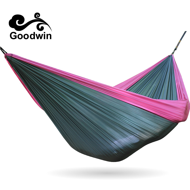 Hanging Ultralight Nylon Outdoor Indoor Parachute Sleeping Double Camping Hammock Chair Tent Camping Parachute Swing Rope Straps