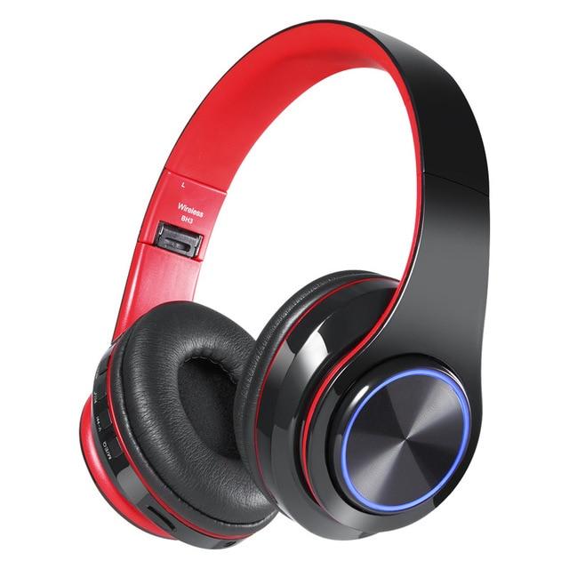 Tourya ワイヤレスヘッドフォン Bluetooth ヘッドフォン 7 色グローイング Led ヘッドセットマイクのサポート Tf カード PC MP3 プレーヤー