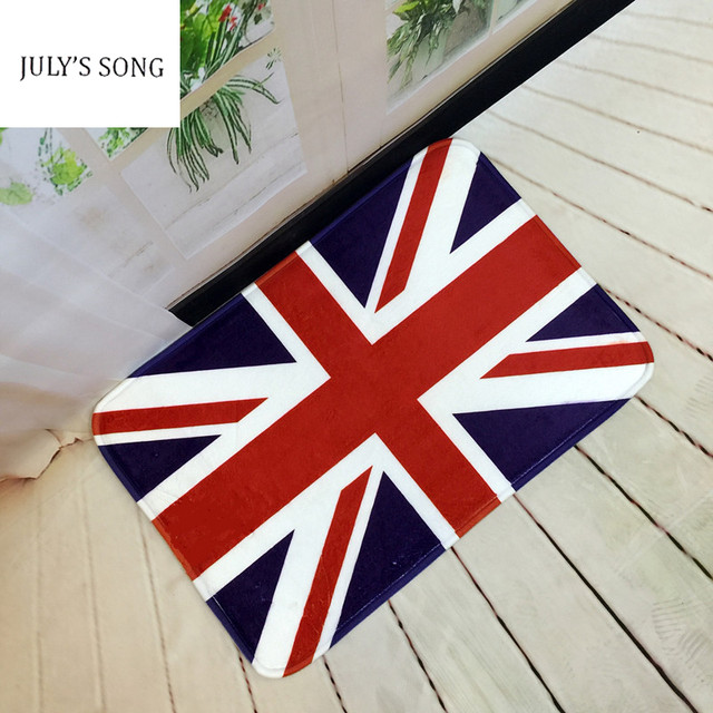 Digital Printing Flag England American Door Mat Non Slip Doormats Area Rugs  And Carpets Floor Mats Room Kitchen Carpet Toilet