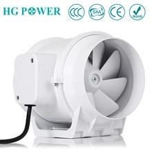 5 Inline Fan Hydroponic System Air Extractor Fans Bathroom Booster Blower Kitchen Ventilation Exhaust Fan for Grow Tent Fan
