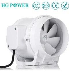 5 hause Stille Inline-rohrventilator mit Starken Belüftung System Air Extractor Fan für Küche Bad Booster Gebläse Haushalt