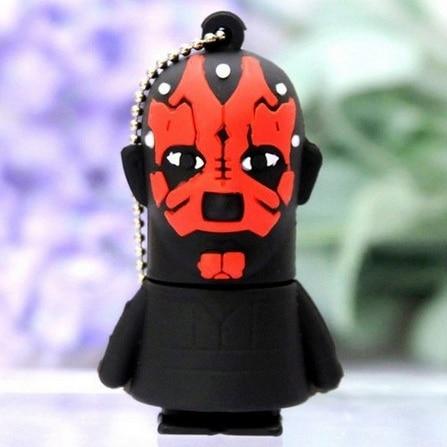 Star War Darth Vader 8GB 16GB 32GB 64GB Rubber USB Flash 2.0 Memory Drive Sticks Pen Disk Darth Maul 3D Pendrive Pen Drive Gift