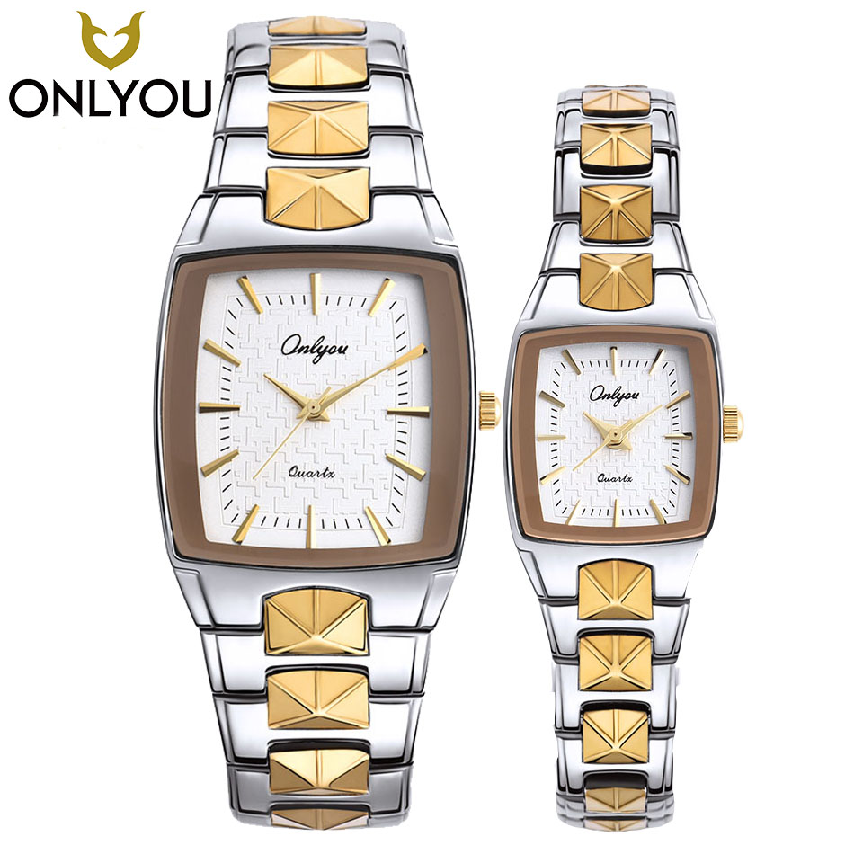 ONLYOU Lover Watch Men Business Square Watches Women Fashion Casual Quartz Clock Male Luxury Waterproof Wristwatch Wholesale onlyou men s watch women unique fashion leisure quartz watches band brown watch male clock ladies dress wristwatch black men