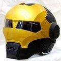Nueva motocicleta Capacete casco de Iron Man Homem de Ferro Vingadores Motociclista Capacete Personalizado Homem de Ferro Iron Man