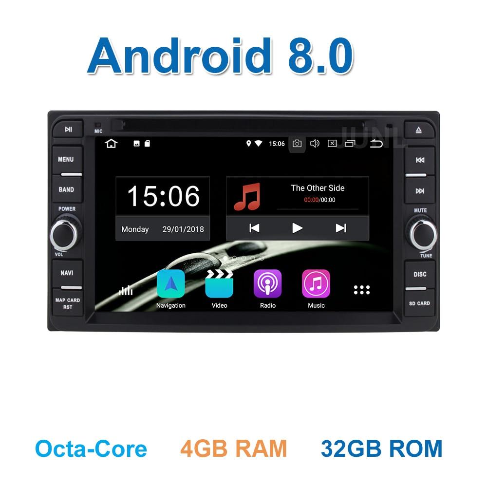 4 ГБ Оперативная память Android 8,0 dvd-плеер автомобиля радио gps для Toyota Yaris Vios Hilux Land лимузин Vits Camry Corolla prado RAV4 Terios Avanza