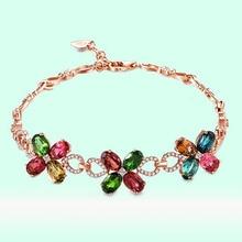 68c2d57fe111 De moda coreana Rosa oro cuatro-Hoja de hierba pulsera de plata 925 para  mujer