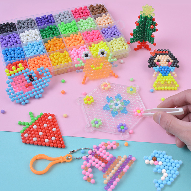 Children DIY Water Beads Set Kit Magic Animal Molds 2019 Brand New Handmade 3D Puzzle Educational Arts And Crafts For Kids