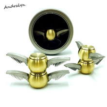 COOLEASTER Golden Snitch Harry Potter Fidget Spinner Hand Toy For EDC ADHD Metal Anti Stress Wheel