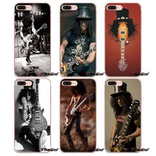 Le Pew Slash gitary Guns n Roses TPU Case dla iPhone X 4 4S 5 5S 5C SE 6 6 S 7 8 Plus Samsung Galaxy J1 J3 J5 J7 A3 A5 2016 2017(China)