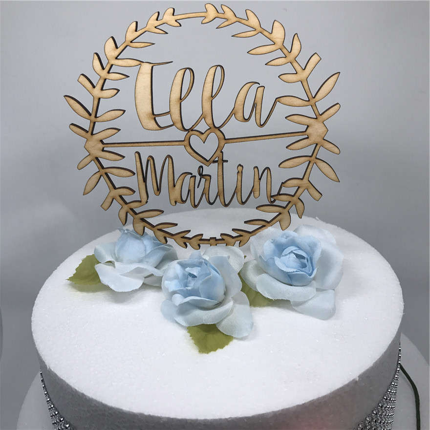 wooden wedding cake toppers personalized wedding cake topper custom names personalized 1488