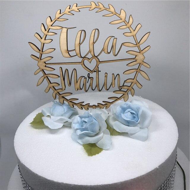 Personalized wedding cake topper custom names personalized name personalized wedding cake topper custom names personalized name laurel couples wooden cake topper rustic wedding cake junglespirit Choice Image