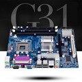 Новый для Intel G31 Материнская Плата 771 775 PIN Материнская Плата DDR2 4 Г