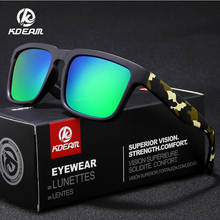 9d3fa8a0a783d KDEAM Polarizada Óculos De Sol Para Homens Preto Fosco Quadro Fit Pintura  Templos Jogar Legal Óculos