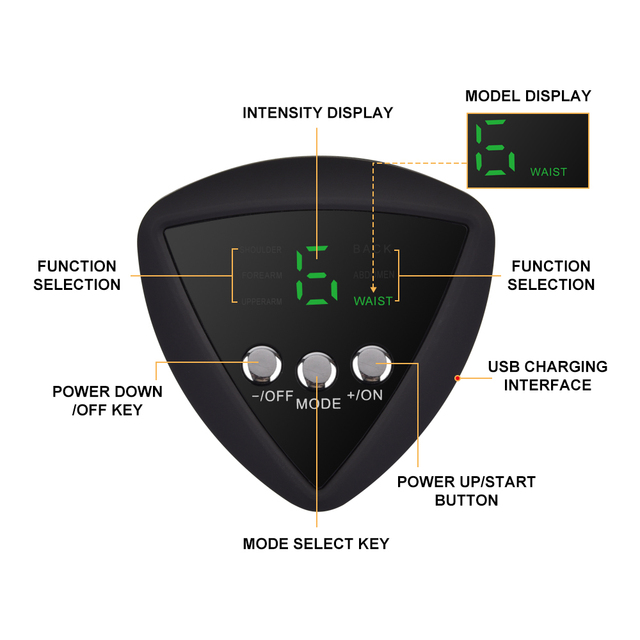 Rechargeable Smart ABS Stimulator