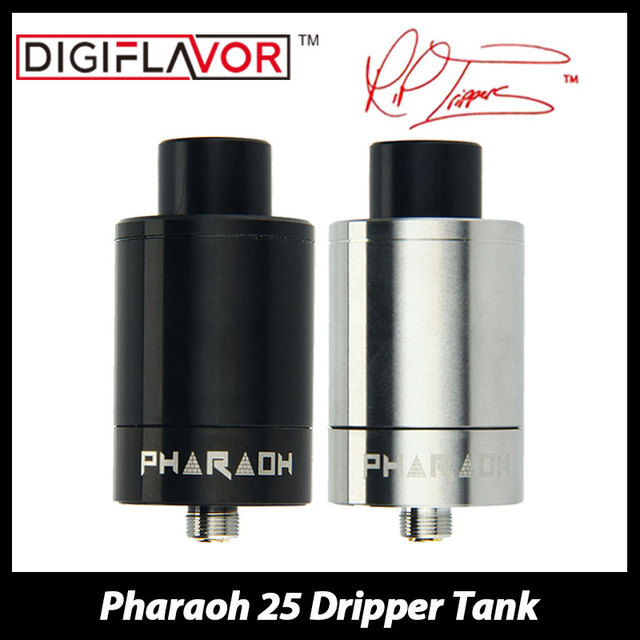 Original Digiflavor Pharaoh 25 Tank 2ml RiP Project Dripper Atomizer E-cig Tank with Anti-spit Back Drip Tip and Airflow Control