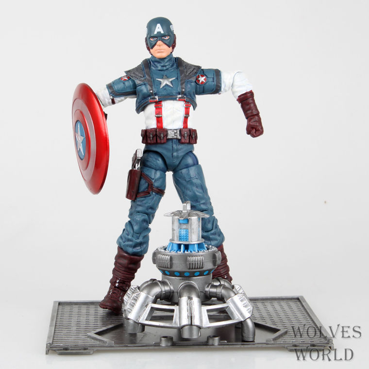 Super Hero The Avengers Captain America Juguetes PVC Action Figure Brinquedos Collectible Model Kids Toys Doll Figurine 8 20CM the avengers 2 captain america 1 6 scale movable pvc action figure collectible model toy doll 32cm kt1320