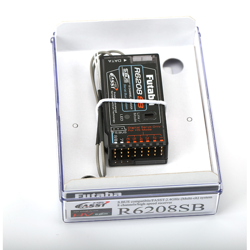 แพคเกจเดิม FUTABABA R6208SB S. Bus 8   Channel FASST HV สำหรับเฮลิคอปเตอร์-ใน ชิ้นส่วนและอุปกรณ์เสริม จาก ของเล่นและงานอดิเรก บน   2