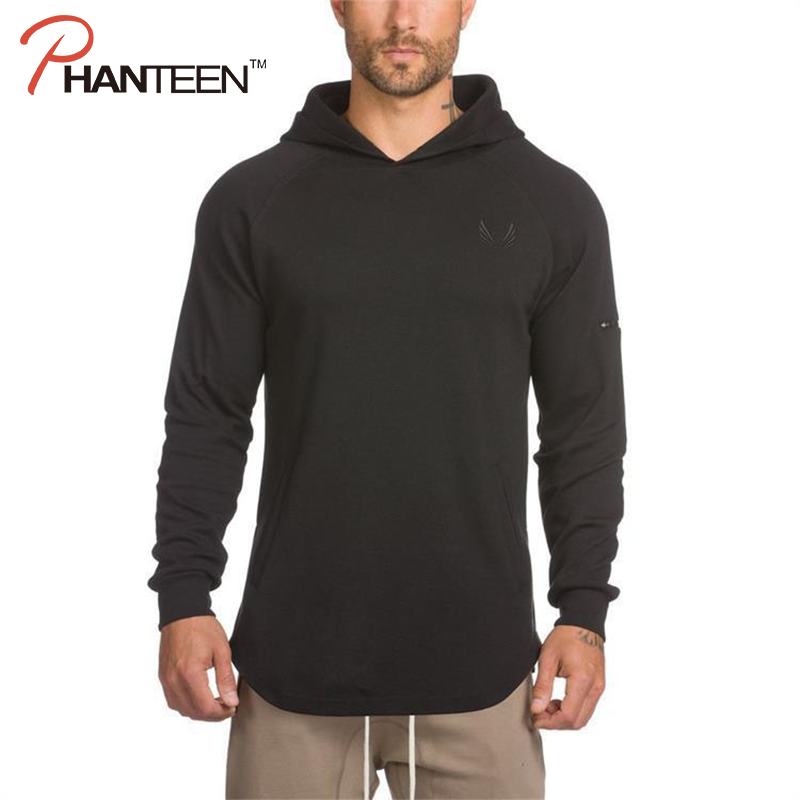 Slim Fitness Men Hooded Hoodie Sweatshirt Exercise Workout Spring Fall Coat Outerwear