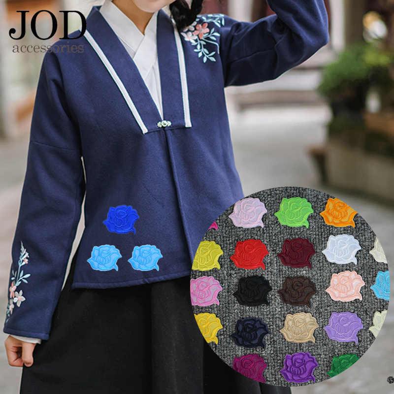 Цветок кружево вышивка гладить на наклейки аппликация Одежда патч, вышитые патчи для Костюмы роза значки ткань