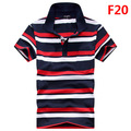 Summer 2017 Men Polo Shirt Short Sleeve High Quality Lapel Business Polo Shirts Casual Striped Shirt Men Cotton