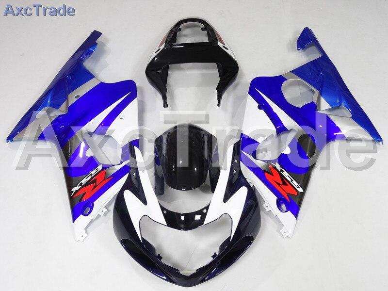 Комплекты мотоцикл Обтекатели для Suzuki GSXR системы GSX-Р 600 750 GSXR600 GSXR750 2001 2002 2003 К1 пластичной Впрыски ABS обтекатель комплект a717 направляющий выступ установки