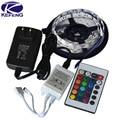 RGB Tira CONDUZIDA 5 M 300Led 3528 SMD 24 Remoto IR Chave controlador 12 V 2A Luz Flexível Adaptador Fita Led Decoração de Casa lâmpadas